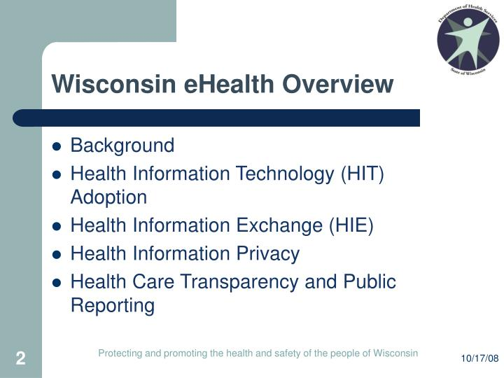 Wisconsin ehealth overview