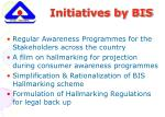 initiatives by bis