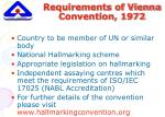 requirements of vienna convention 1972