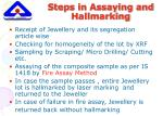 steps in assaying and hallmarking