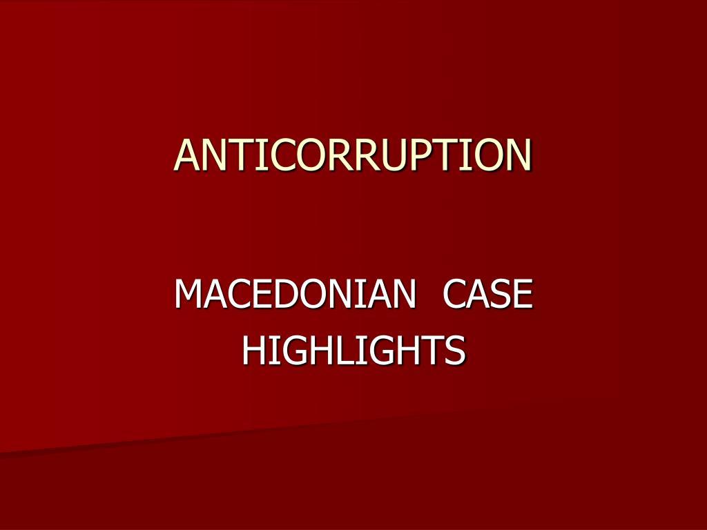 anticorruption l.