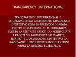 trancparency international