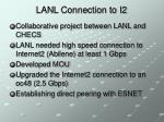 lanl connection to i2