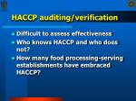 haccp auditing verification