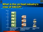 what is the la food industry s view of haccp