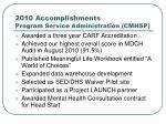2010 accomplishments program service administration cmhsp