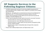 gf supports services to the following saginaw citizens