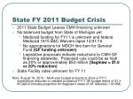 state fy 2011 budget crisis