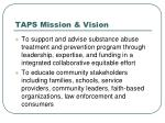 taps mission vision