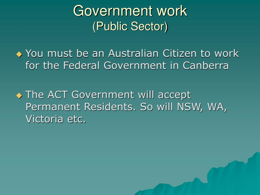 Government work