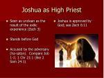 joshua as high priest