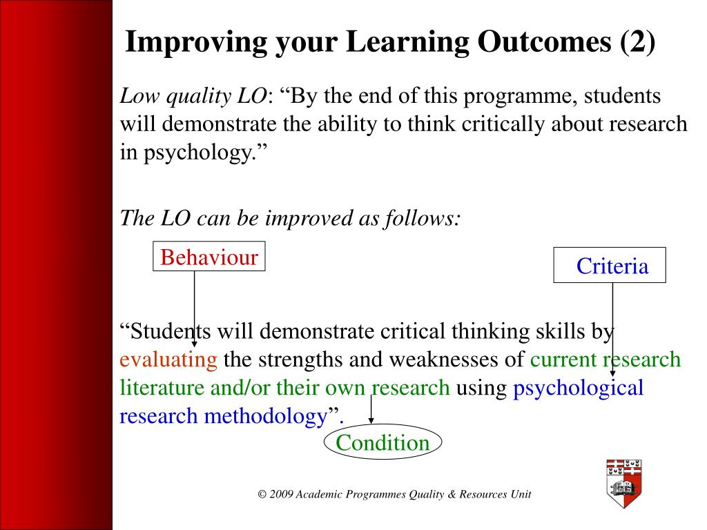 Improving your Learning Outcomes (2)