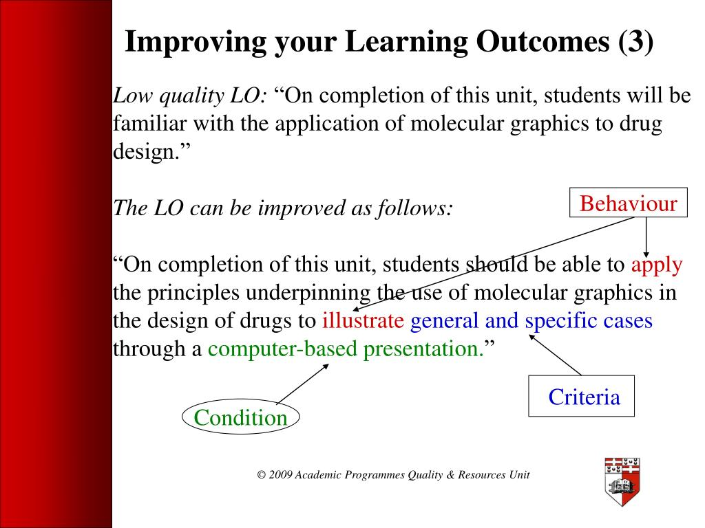 Improving your Learning Outcomes (3)
