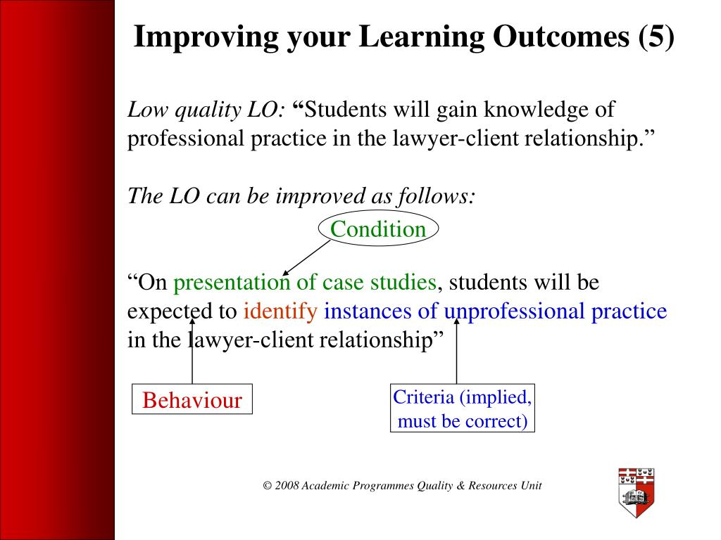 Improving your Learning Outcomes (5)
