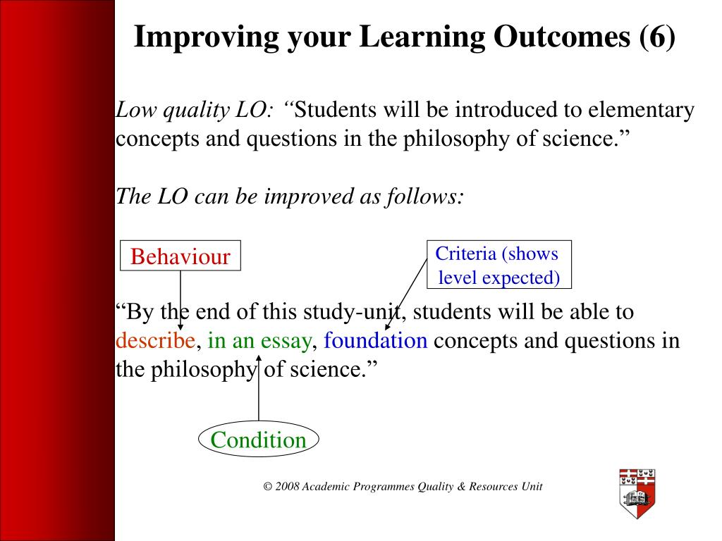 Improving your Learning Outcomes (6)