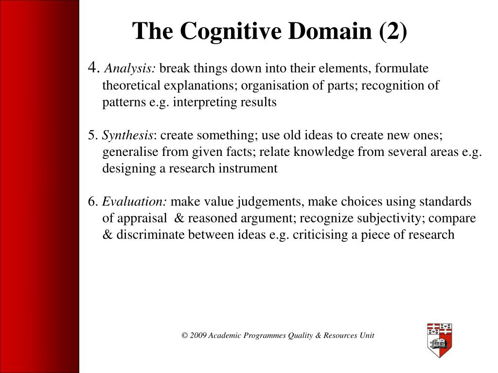 The Cognitive Domain (2)