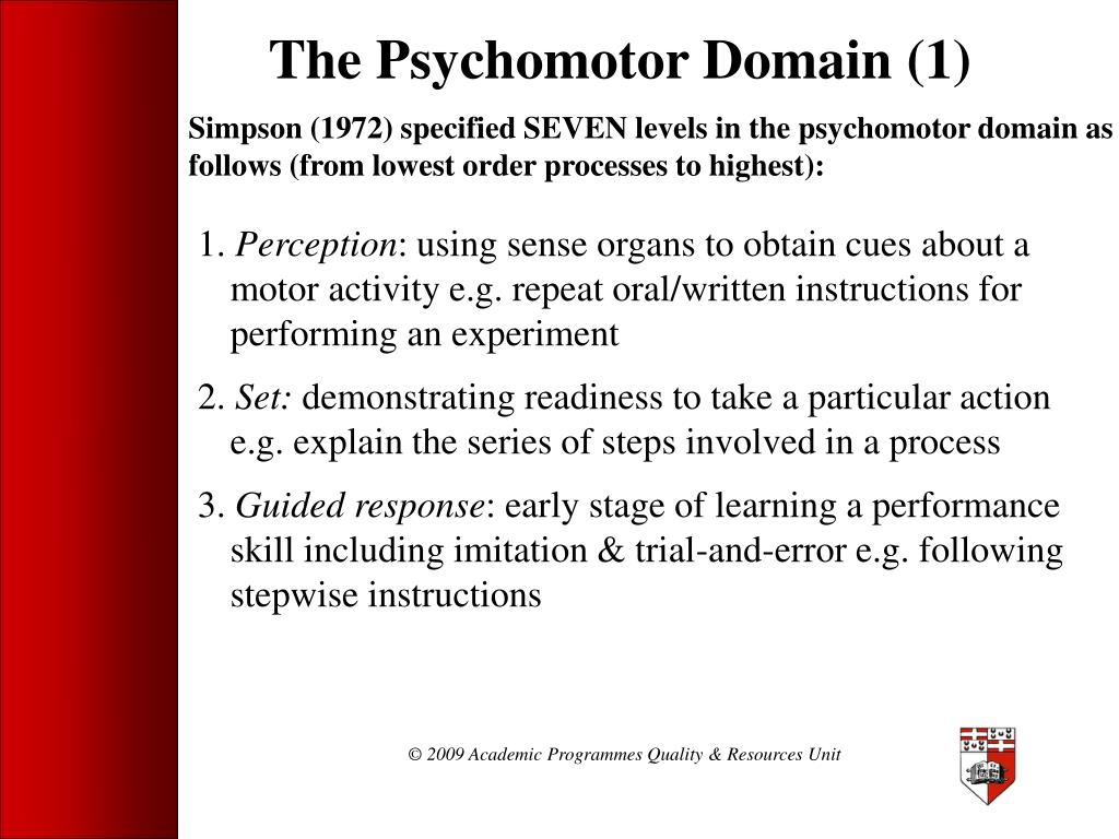 The Psychomotor Domain (1)