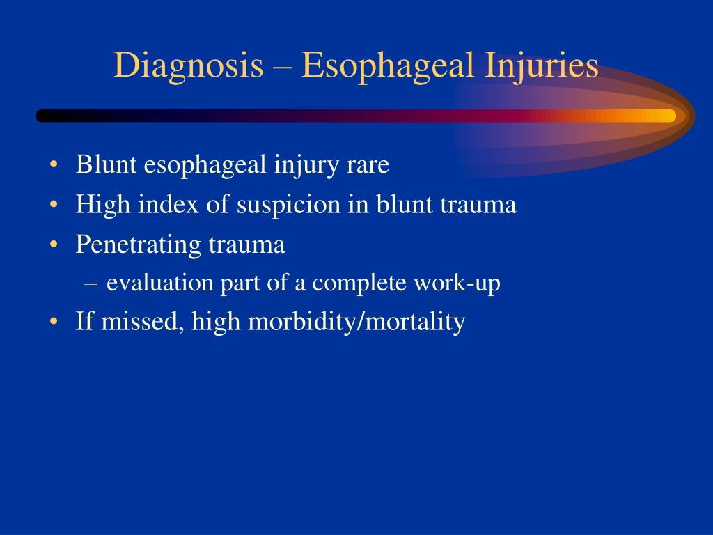 Diagnosis – Esophageal Injuries