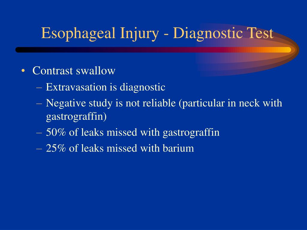 Esophageal Injury - Diagnostic Test