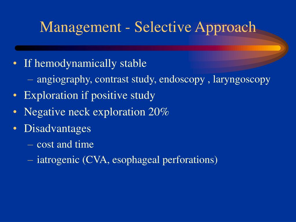 Management - Selective Approach