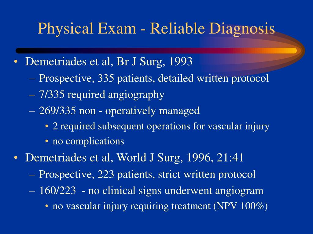 Physical Exam - Reliable Diagnosis