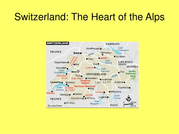 Switzerland the heart of the alps