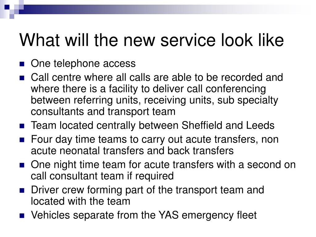What will the new service look like