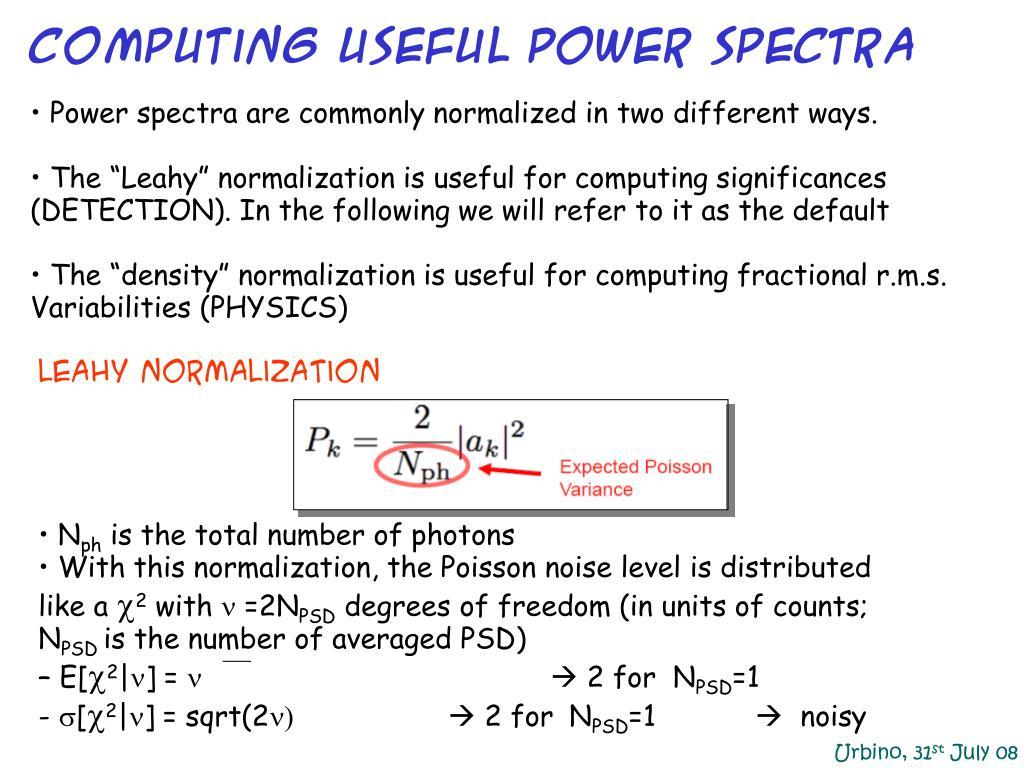 Computing Useful Power Spectra