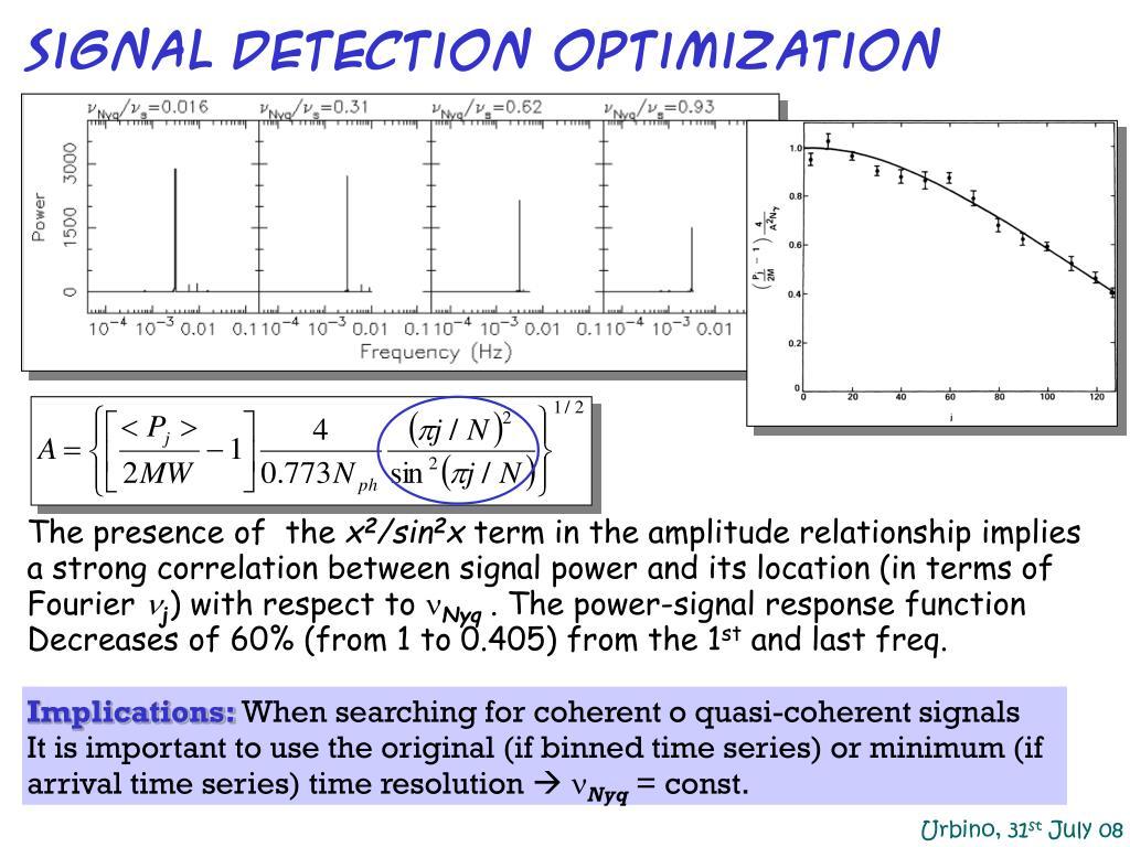 signal detection optimization