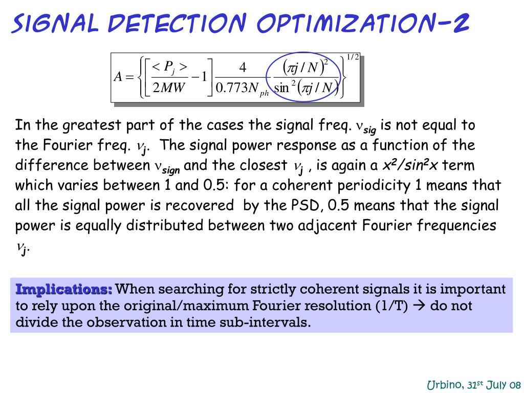signal detection optimization-2