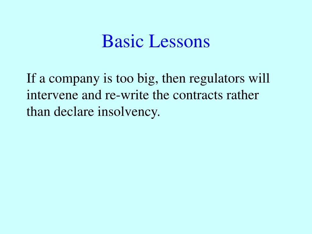 Basic Lessons