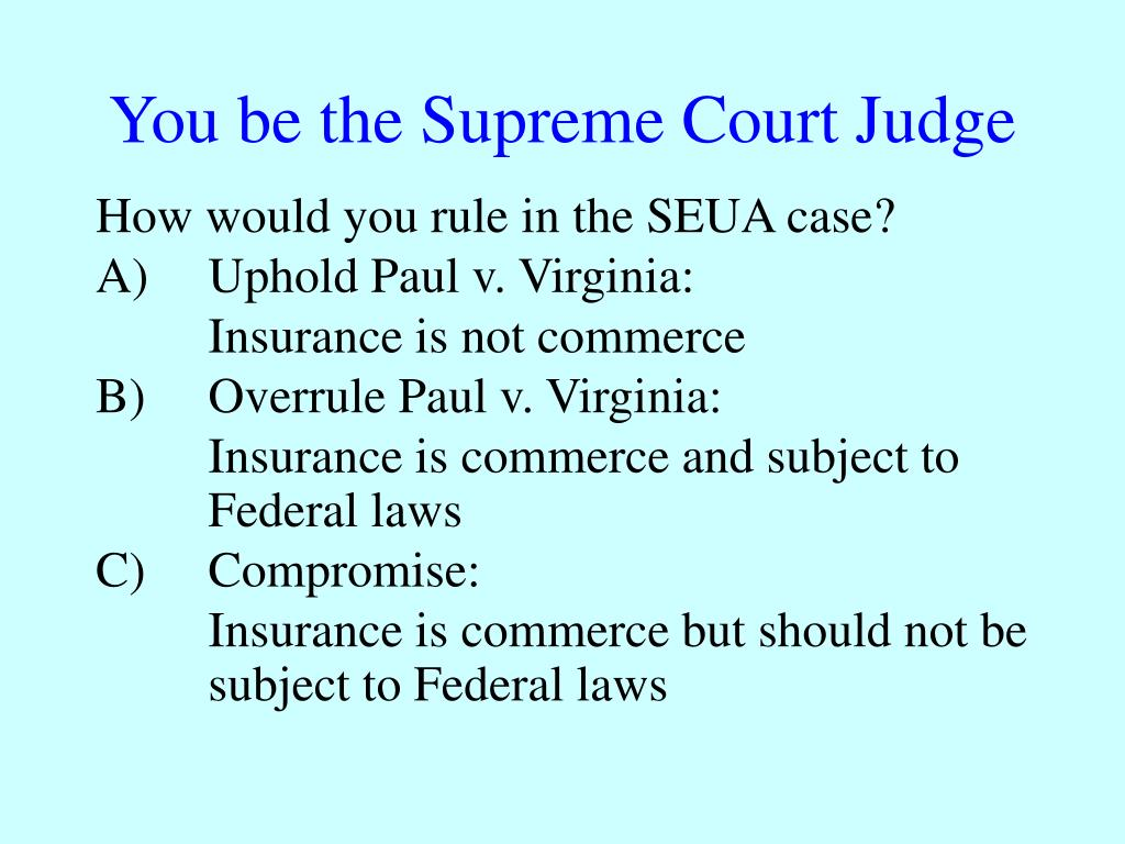 You be the Supreme Court Judge