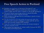 free speech action in portland