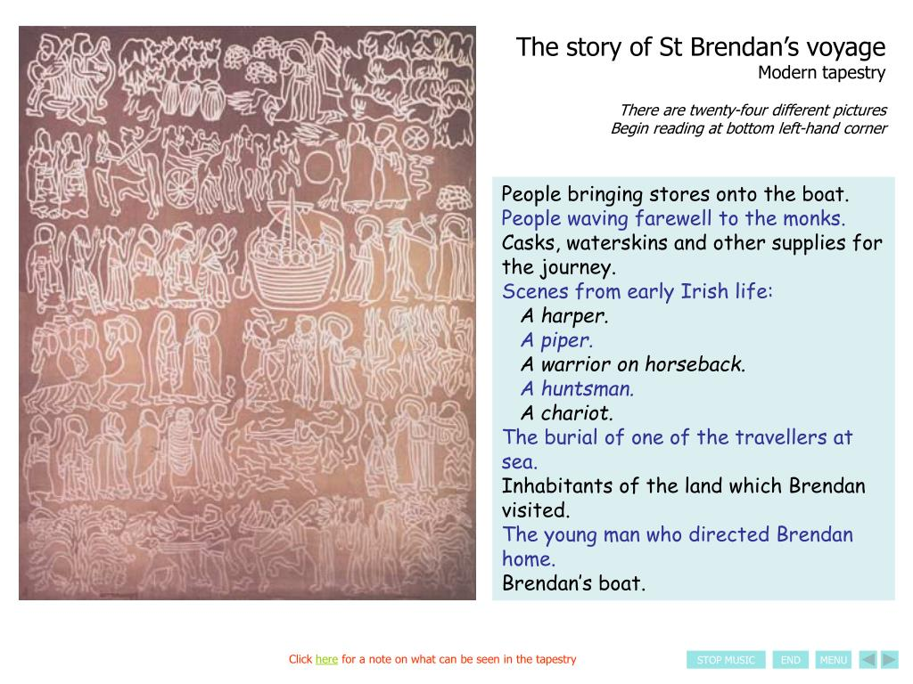 The story of St Brendan's voyage