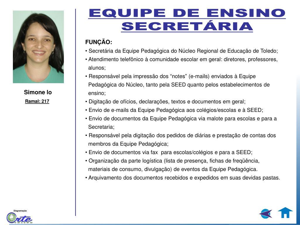 EQUIPE DE ENSINO