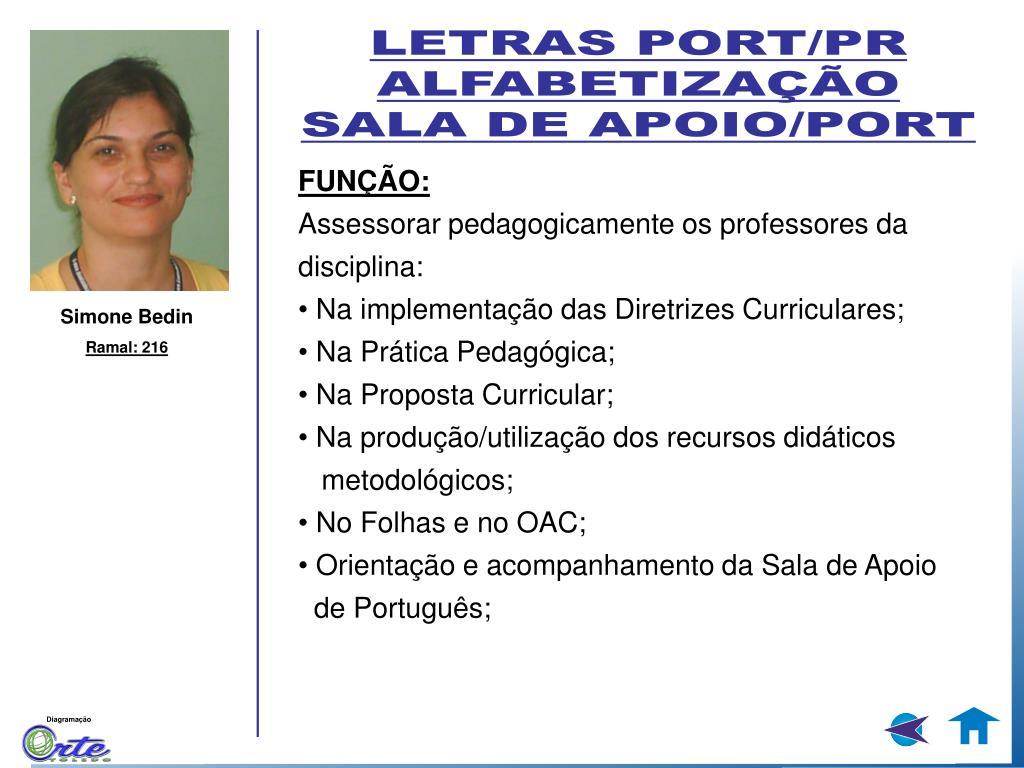 LETRAS PORT/PR