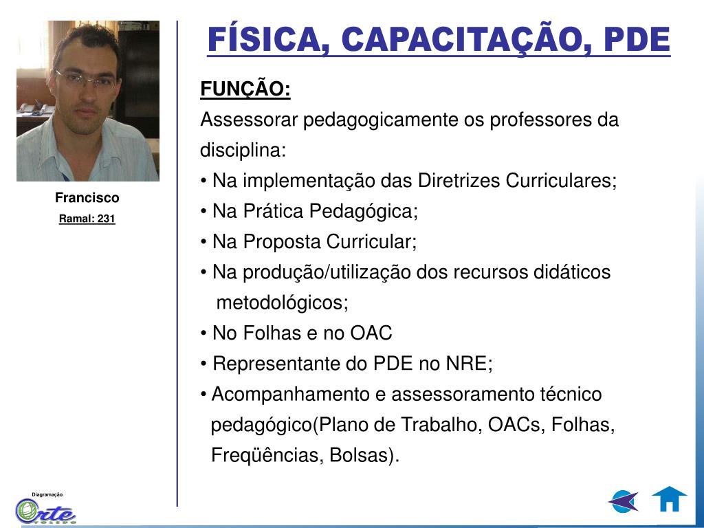 FÍSICA, CAPACITAÇÃO, PDE