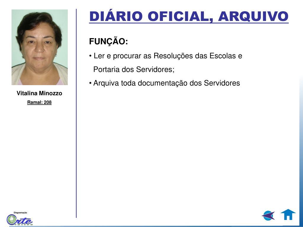 DIÁRIO OFICIAL, ARQUIVO