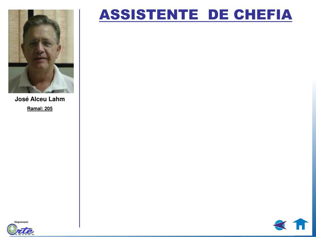 ASSISTENTE  DE CHEFIA