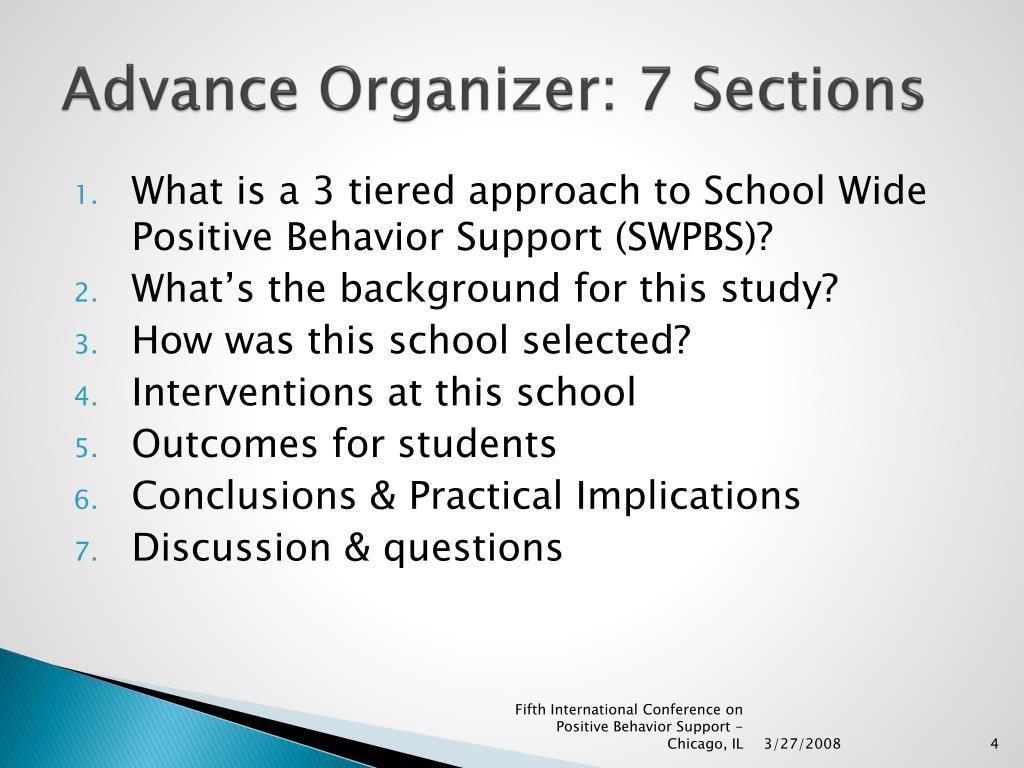 Advance Organizer: 7 Sections