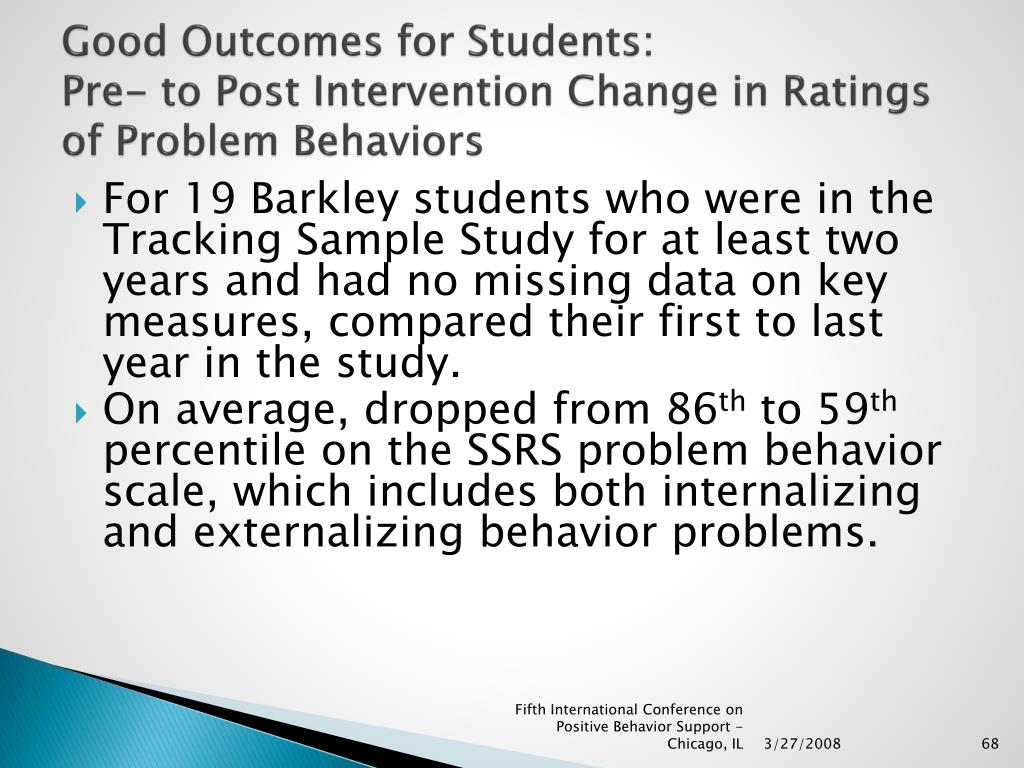 Good Outcomes for Students: