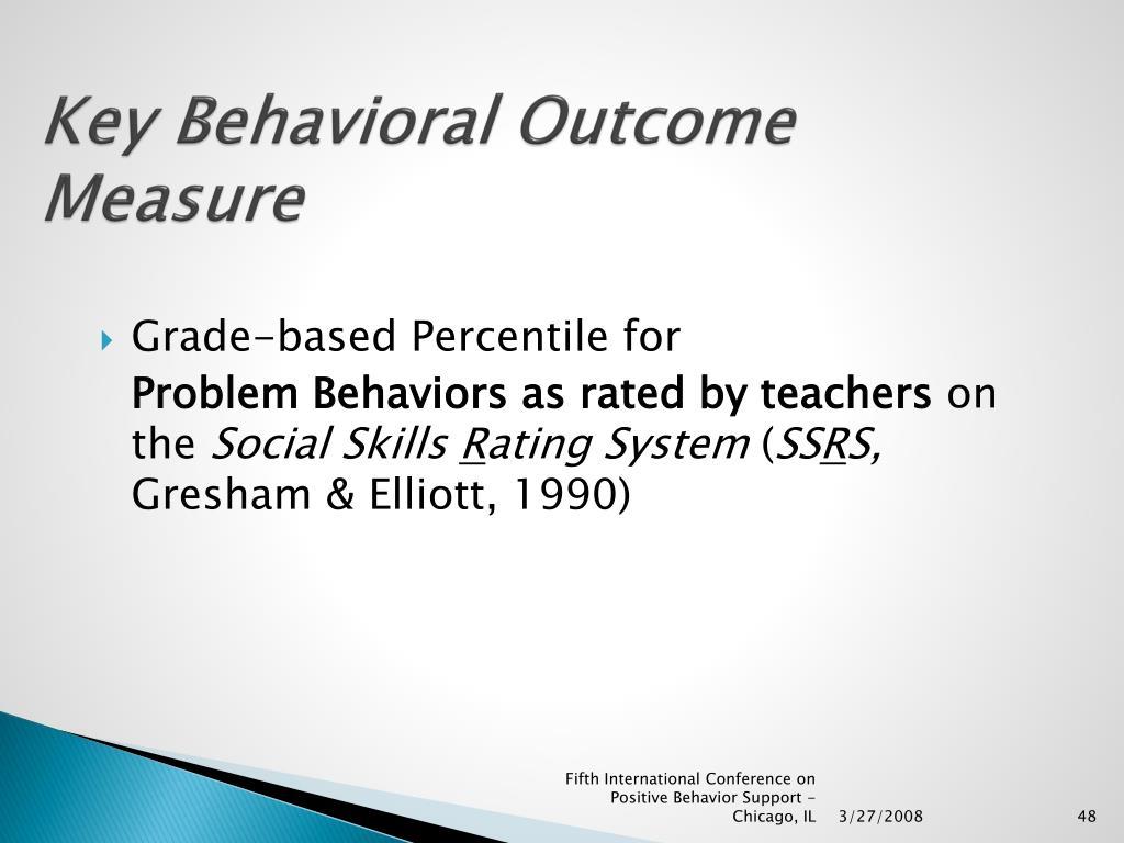 Key Behavioral Outcome