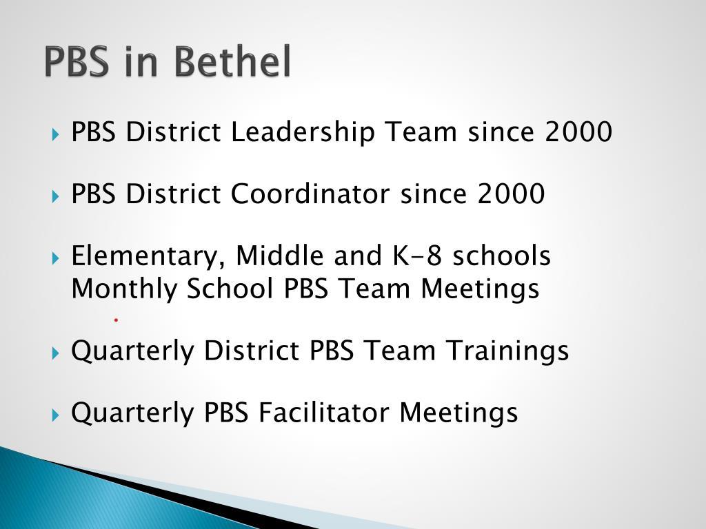 PBS in Bethel