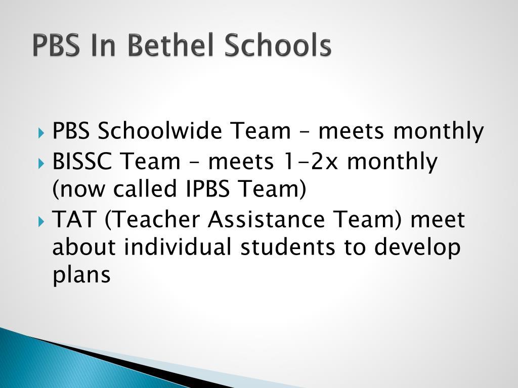 PBS In Bethel Schools