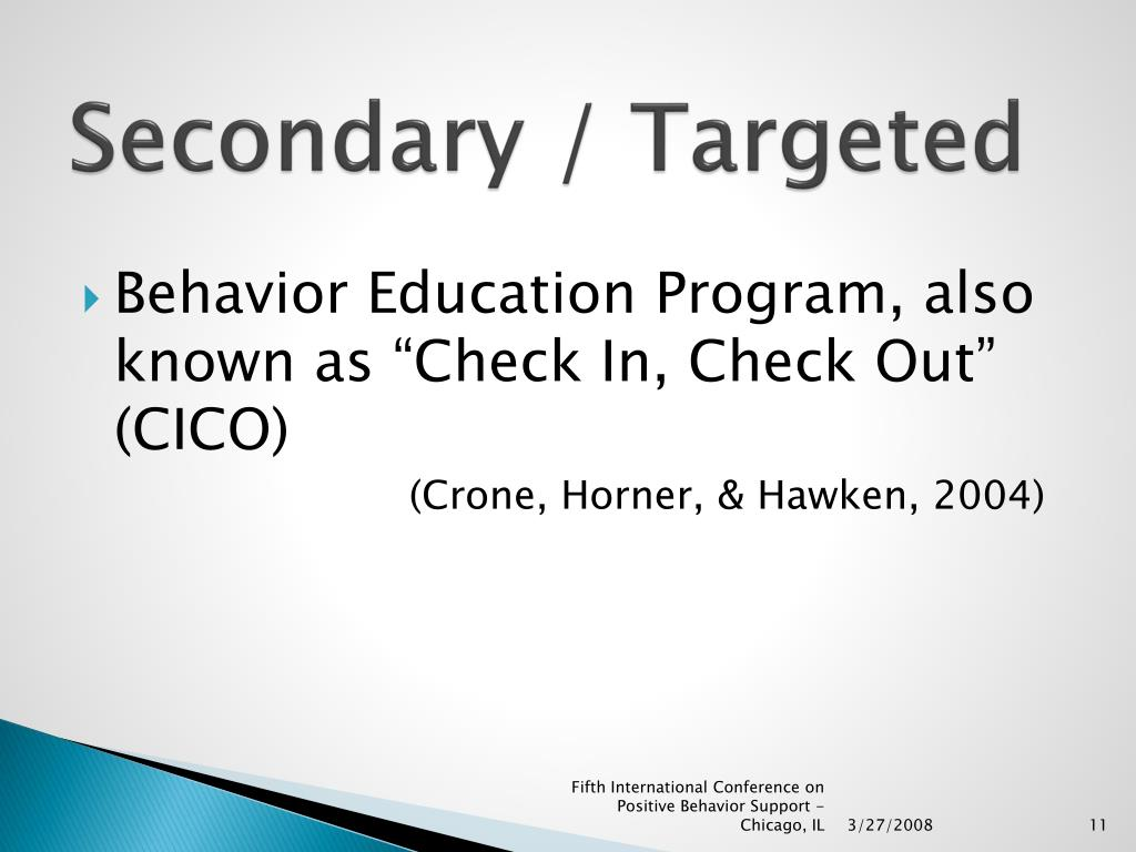 Secondary / Targeted