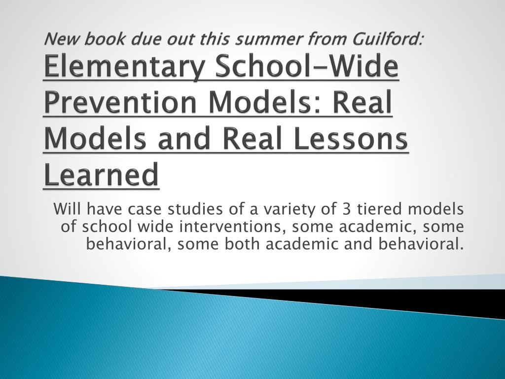 New book due out this summer from Guilford:
