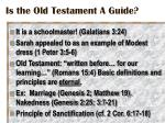 is the old testament a guide