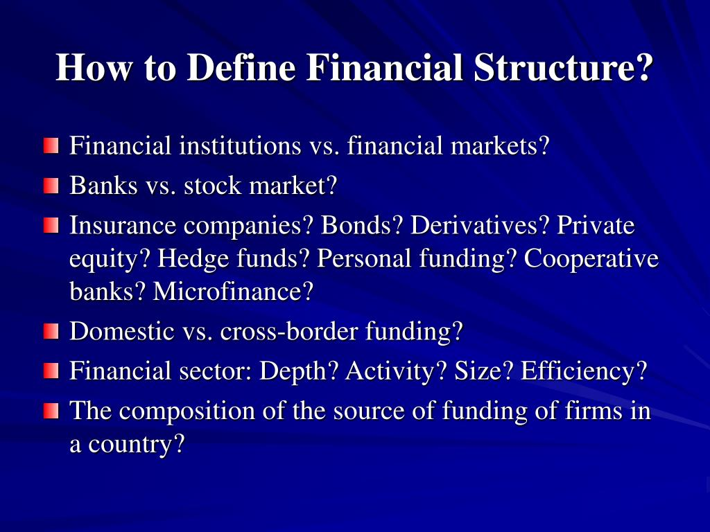How to Define Financial Structure?