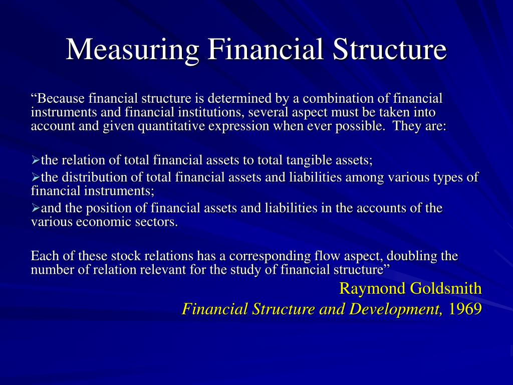 Measuring Financial Structure
