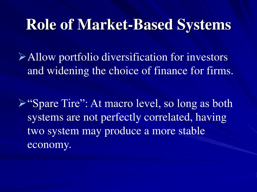 Role of Market-Based Systems